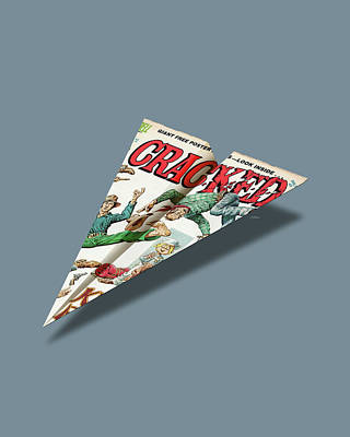 112 Cracked Mad Paper Airplanes Art Print