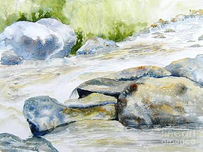 Painting - Mad River Rocks by Diane Kirk