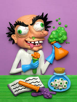 Claymation Sculpture - Mad Scientist by Amy Vangsgard