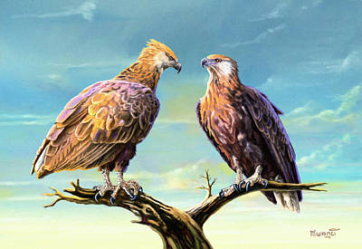 Fauna Painting - Madagascar Fish Eagle  by Anthony Mwangi