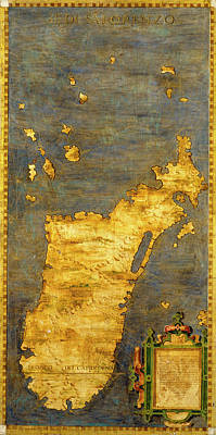 Sphere Painting - Madagascar by Italian painter of the 16th century