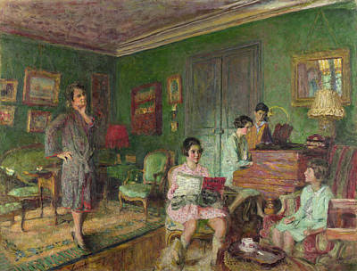 Music Painting - Madame Andre Wormser And Her Children by Edouard Vuillard