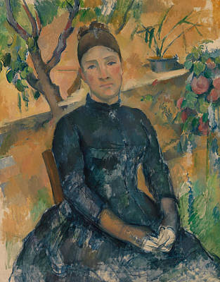 Painting - Madame Cezanne In The Conservatory by Paul Cezanne