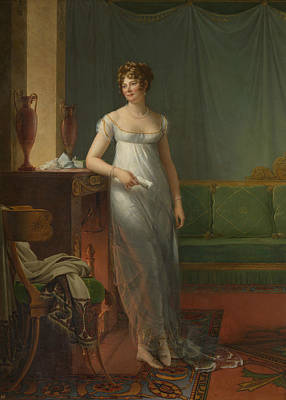 Painting - Madame Charles Maurice De Talleyrand Perigord by Francois Gerard