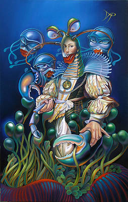Anemone Painting - Madame Clawdia D'bouclier From Mask Of The Ancient Mariner by Patrick Anthony Pierson