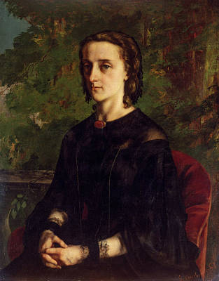 Realistic Painting - Madame De Brayer by Gustave Courbet