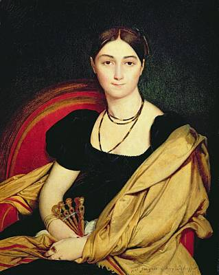 Early Painting - Madame Devaucay by Jean Auguste Dominique Ingres