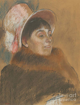 Pastel - Madame Dietz-monnin, 1879 by Edgar Degas