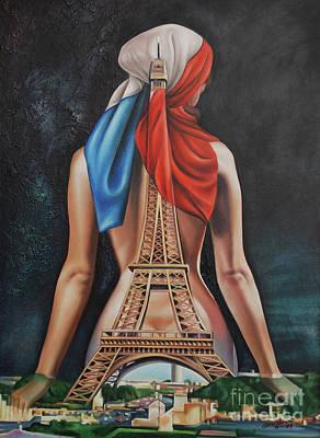Painting - Madame Eiffel by Jorge L Martinez Camilleri