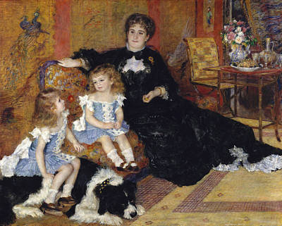 Painter And Dog Painting - Madame Georges Charpentier And Her Children by Auguste Renoir