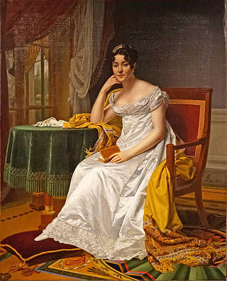 Caminade Painting - Madame Hurault De Sorbee by Alexandre-Francois Caminade