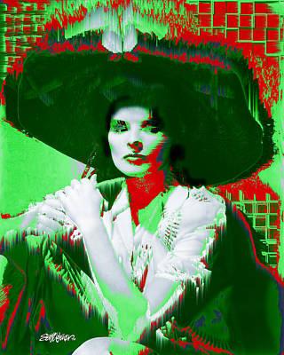 Madame Kate And The Big Hat Art Print