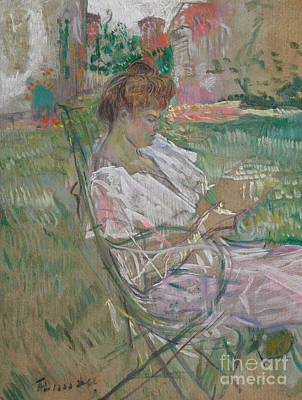 Post-impressionist Drawing - Madame Misia Natanson by Henri de Toulouse-Lautrec