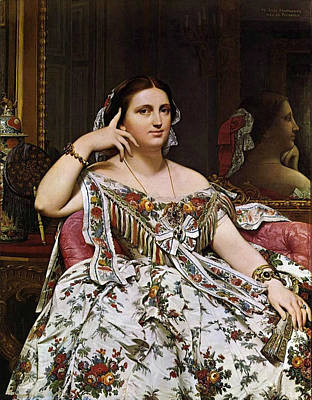 Sitting Painting - Madame Moitessier, Siting by Jean-Auguste-Dominique Ingres