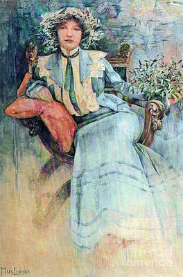 Photograph - Madame Mucha 1913 by Padre Art