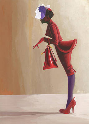 Painting - Madame Rouge by Aaron Clark
