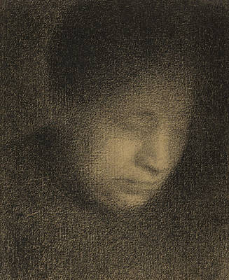 Faces Drawing - Madame Seurat by Georges Pierre Seurat