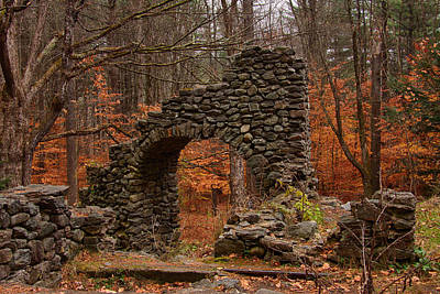 Photograph - Madame Sherri Ruins Amid Fall Foliage by Jeff Folger