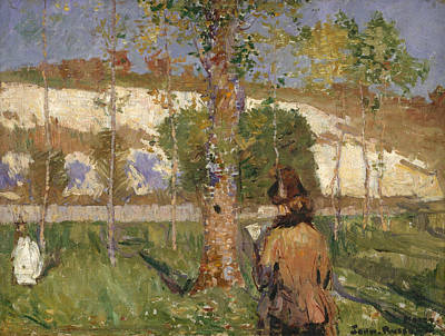 Painting - Madame Sisley On The Banks Of The Loing At Moret by John Peter Russell