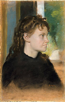 Morisot Drawing - Madame Theodore Gobillard. Yves Morisot by Edgar Degas