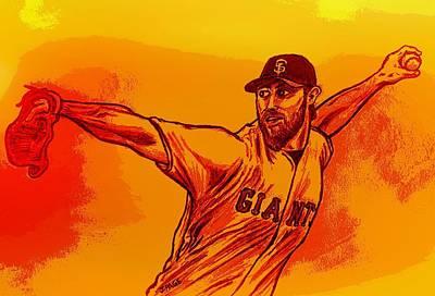 San Francisco Giants Drawing - Madbum by Jason Page