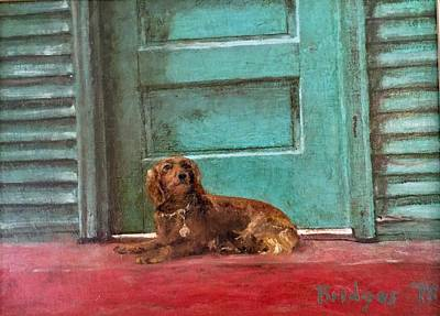Back Porch Painting - Madchen by Jerry Bridges