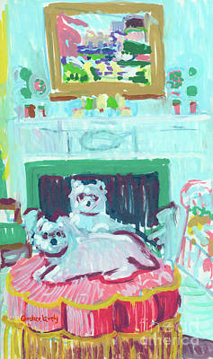Painting - Maddie And Rosie by Candace Lovely