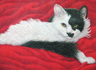 Fuqua - Artwork Drawing - Maddie In Red by Beverly Fuqua