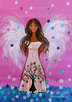 Painting - Pink Angel Of Life by Pristine Cartera Turkus