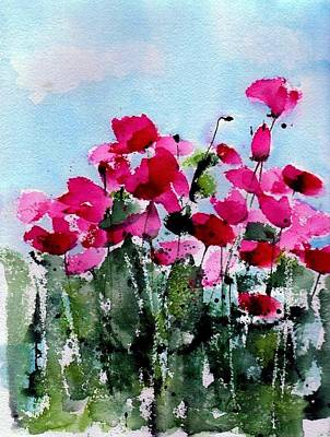 Flower Fields Painting - Maddy's Poppies by Anne Duke