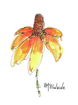 Made For Order Cone Sunflower Original by Kathleen McElwaine