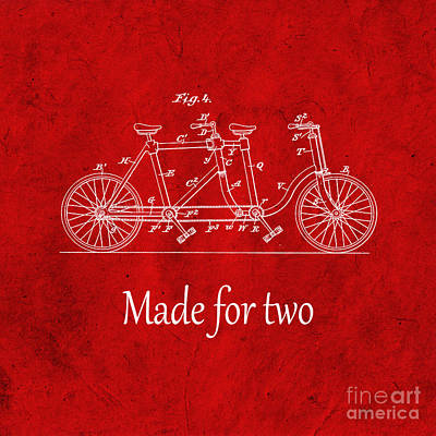Made For Two - Red Art Print by Delphimages Photo Creations