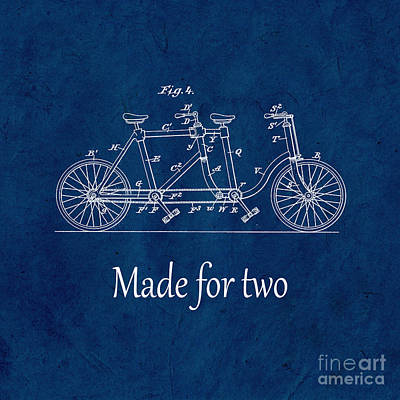 Made For Two - Blue Art Print by Delphimages Photo Creations