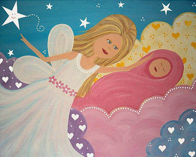 Nursery Painting - Made In Heaven by Samantha Shirley