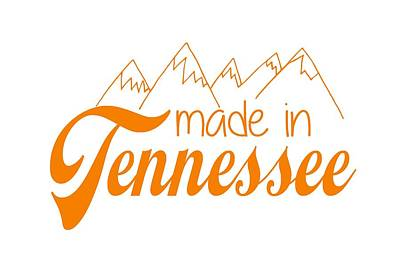 Made In Tennessee Orange Art Print
