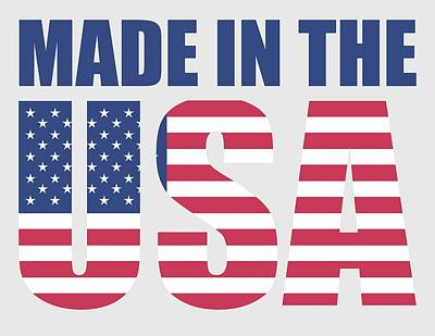 Stars And Stripes Mixed Media - Made In The Usa by Otis Porritt