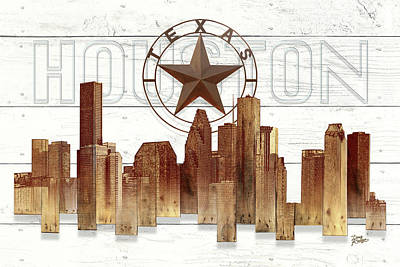 Made-to-order Houston Texas Skyline Wall Art Original