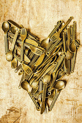 Cutlery Photograph - Made With Love by Jorgo Photography - Wall Art Gallery