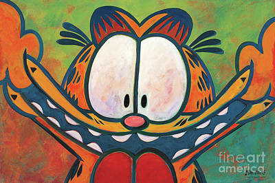Cat Cartoon Painting - Maturity Is Overrated by The Garfield Collection