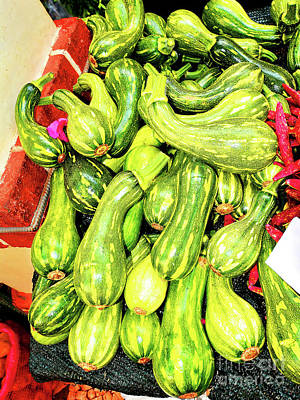 Cristiano Ronaldo Photograph - Madeira Funchal Courgettes At Vegetable Market by Wilf Doyle