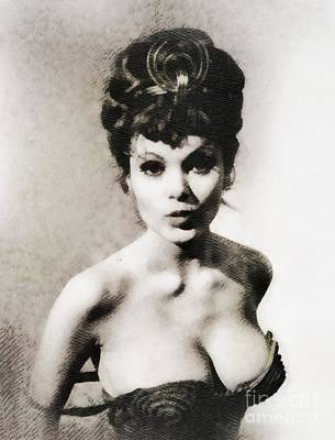 Musicians Royalty-Free and Rights-Managed Images - Madeline Smith, Vintage Actress by John Springfield