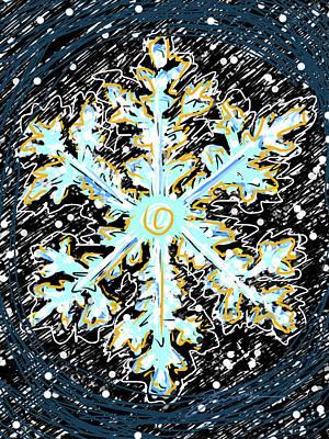Madeline Snowflake Art Print