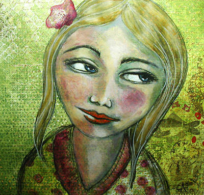 Contemplative Painting - Madelyn II by Christy Sobolewski
