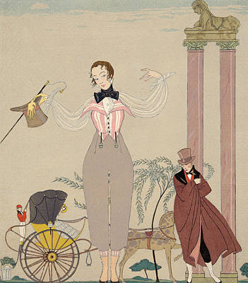 Rendezvous Painting - Mademoiselle De Maupin by Georges Barbier
