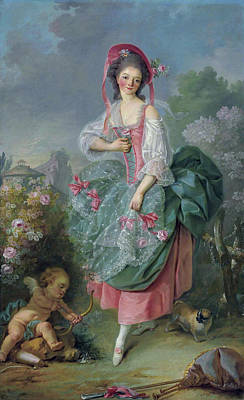 Puppy Painting - Mademoiselle Guimard As Terpsichore by Jacques-Louis David