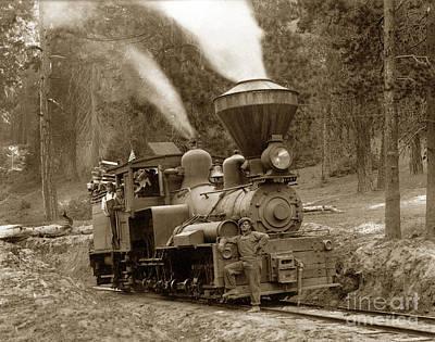 Photograph - Madera Sugar Pine Co. No. 2 Named Arthur Hill  Madera Californi by California Views Mr Pat Hathaway Archives