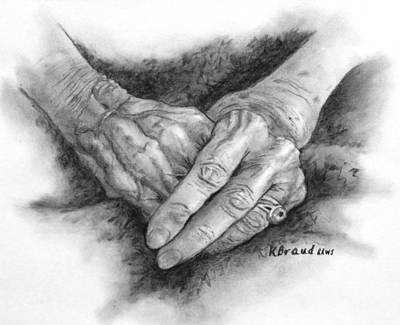 Painting - Madges Hands by Kathy Braud