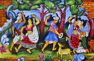 Madhubani Painting - Madhubani by Vineeth PR