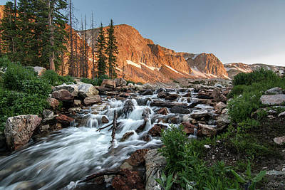 Photograph - Madicine Bow Waterfall by Aaron Spong