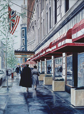 Storefront Painting - Madison Avenue by Anthony Butera